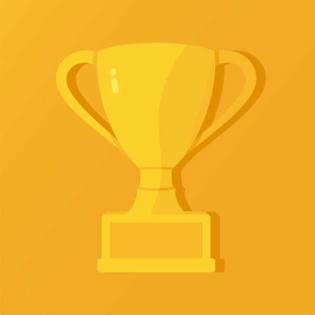 Taça triunfal dourada recompensa da vitória primeiro lugar