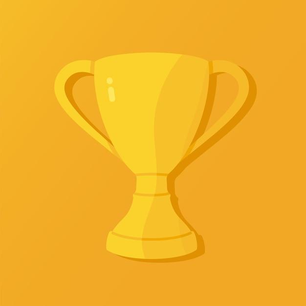 Taça triunfal dourada