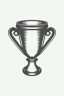 Taça vencedora vintage