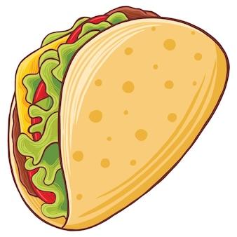 Taco fast food em estilo design plano