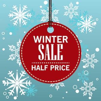 Tag da venda do inverno do natal