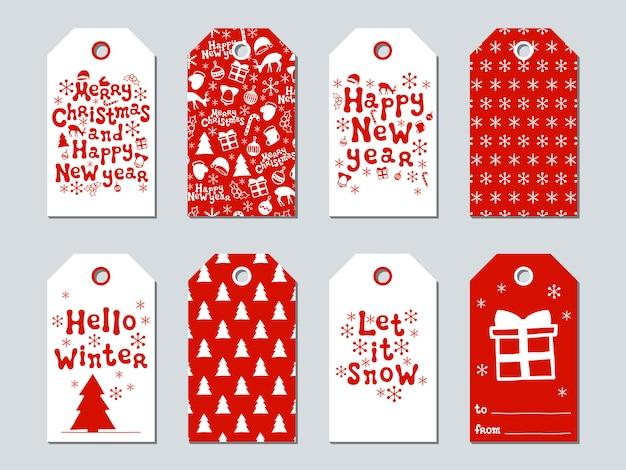 Tag do presente de natal e ano novo