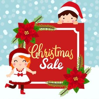 Tags de venda de natal e cupons.