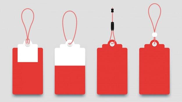 Tags de venda de papel liso. conjunto de etiquetas de venda isoladas.