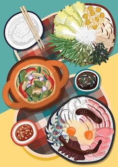 Tailândia rua comida almoço sukiyaki cozinha