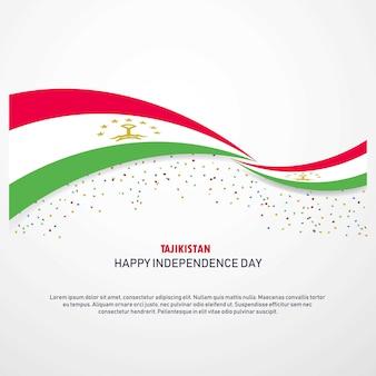 Tajiquistão feliz dia da independência fundo