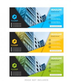 Tamanho padrão do banner da web de modelo com um local para imagem ou foto