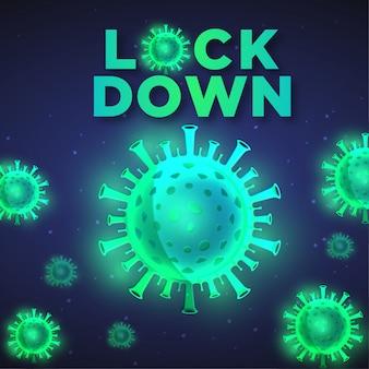 Tamav de fundo de coronavírus 2019-ncov