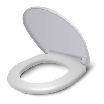 Tampa de assento de vaso sanitário de vetor isolada
