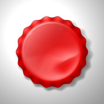Tampa de garrafa vermelha realista