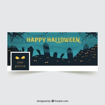 Tampa do facebook com a paisagem de halloween