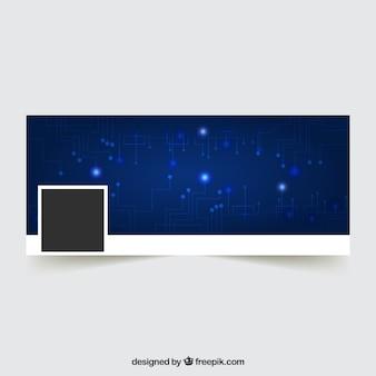 Tampa do facebook com design tecnológico