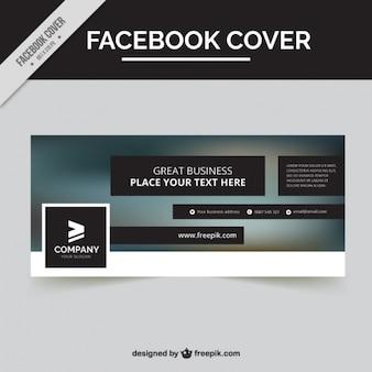 Tampa do facebook com fundo borrado e rectângulos pretos