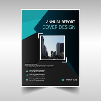 Tampa do livro relatório anual verde e preto