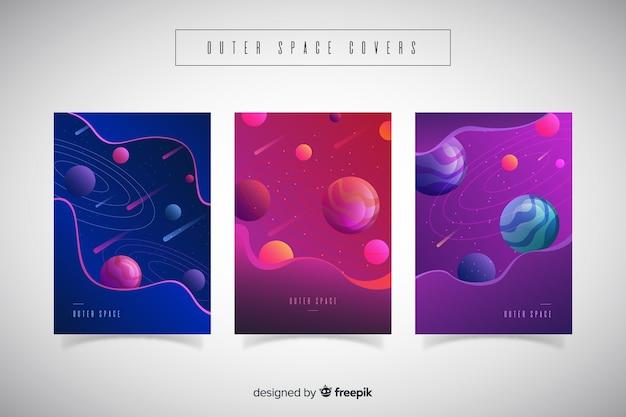 Tampas de espaço exterior de gradiente