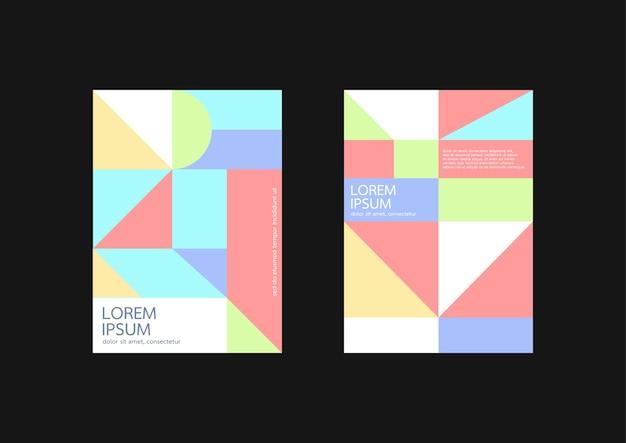 Tampas geométricas pastel, relatório