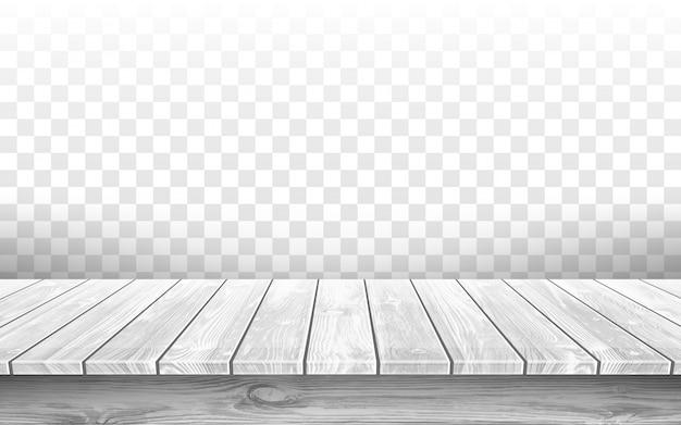 Tampo de mesa cinza de madeira com superfície envelhecida, realista