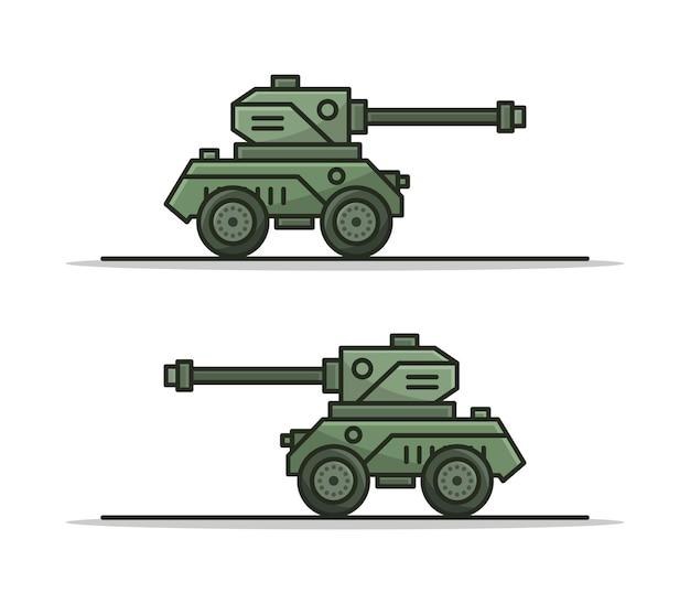 Tanque de desenho animado