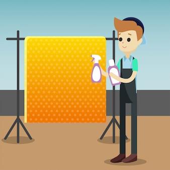 Tapete limpeza ilustração