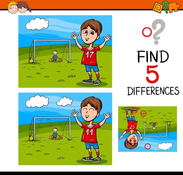 Tarefa de atividades de diferenças pré-escolares