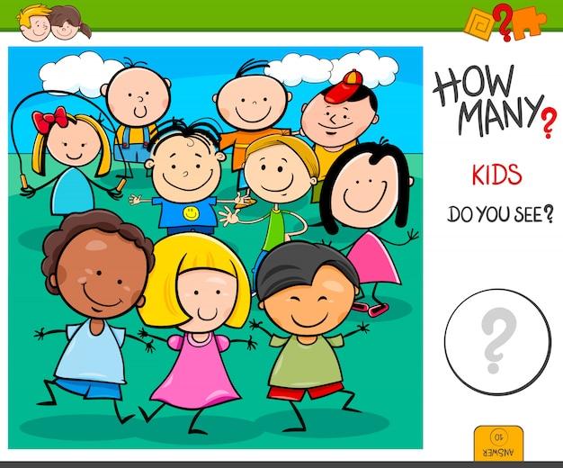 Tarefa de contagem educacional para crianças