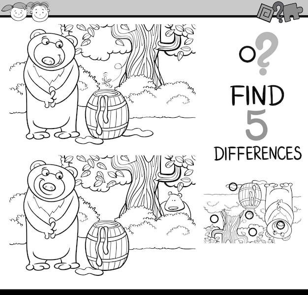 Tarefa de diferenças para colorir