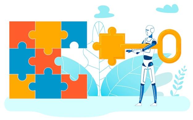 Tarefa de resolução de aprendizado de máquina, quebra-cabeças concluídos