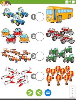 Tarefa maior ou menor com veículos