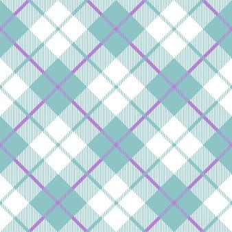 Tartan azul bebê xadrez cor padrão sem emenda.