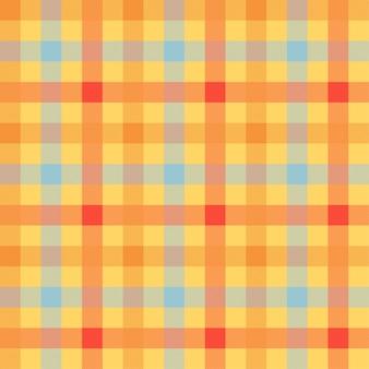 Tartan cor laranja sem costura vetor padrão