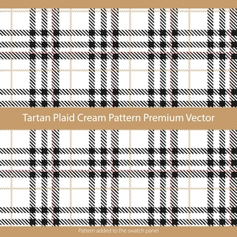 Tartan plaid cream padrão sem emenda adequado para gráficos e têxteis da moda