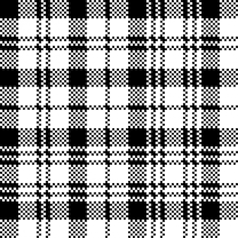 Tartan relógio preto clã xadrez sem costura padrão