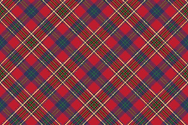 Tartan verde vermelho clássico verificar textura de tecido sem costura