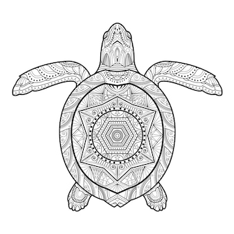 Tartaruga subaquática estilizada
