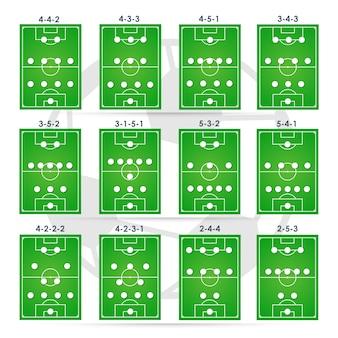 Táticas de formações de futebol, posição de planejamento.