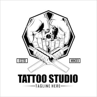 Tattoo studio logo template