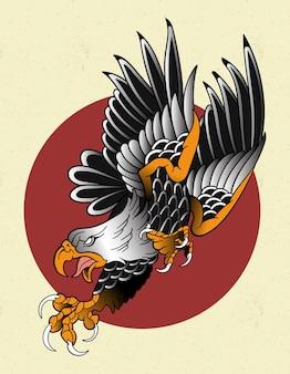 Tatuagem de águia tradicional