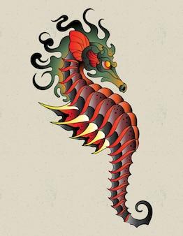 Tatuagem de cavalo-marinho