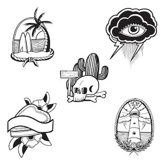 Tatuagem de flash da velha escola