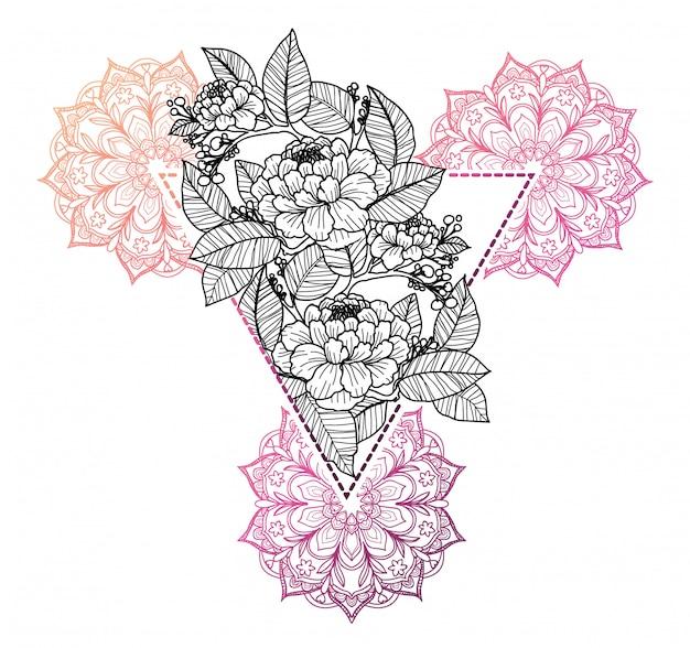 Tatuagem de flor