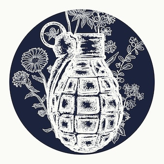 Tatuagem de granada