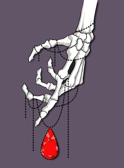 Tatuagem de mão esqueleto