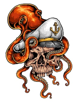 Tatuagem de marinheiro de crânio