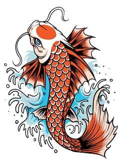 Tatuagem de peixe koi