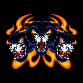 Tatuagem de tigre preto