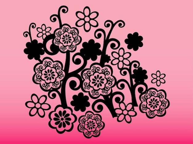 Tatuagem decorativo com flores