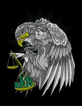 Tatuagem dinheiro justiça