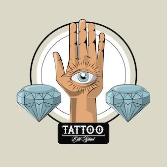 Tatuagem estúdio old school