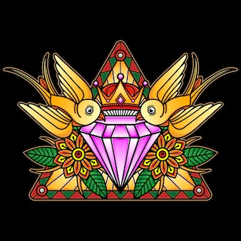 Tatuagem flash de cristal