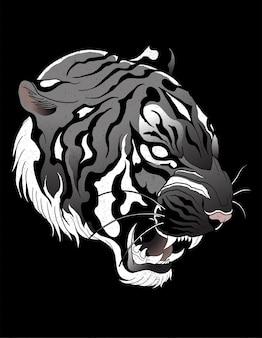 Tatuagem neotradicional de tigre